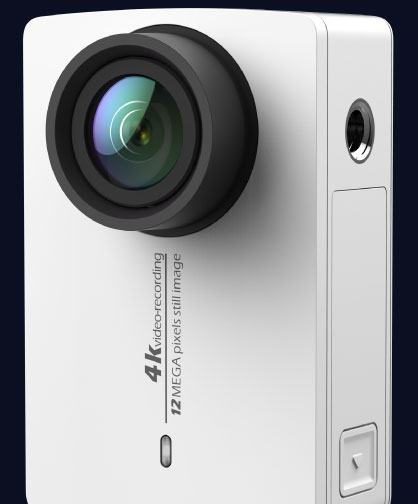 L'Action Camera 4K Yi blanche
